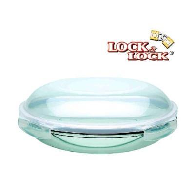lock&lock llg885 platassiette ronde en verre 24 cm