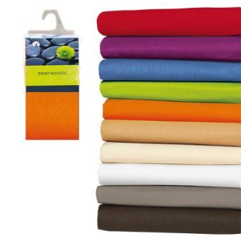 Drap housse 140x190 100% coton ORANGE   Achat & prix | fnac