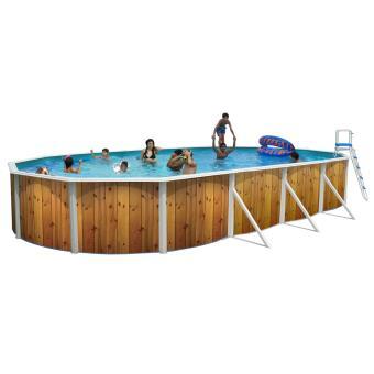 kit piscine acier indiana ovale d co bois piscines hors sol achat prix fnac. Black Bedroom Furniture Sets. Home Design Ideas