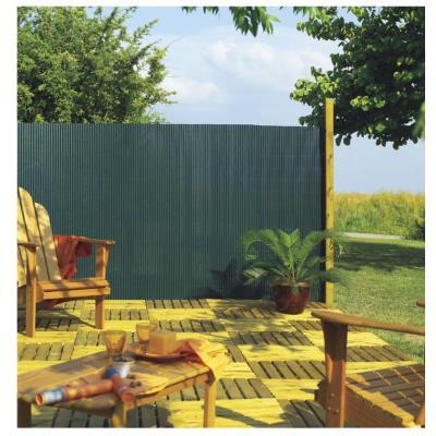 INTERMAS - Canisse PVC simple face Vert 85% occultant 1x3 m PLASTICANE