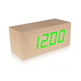 reveil led en bois radio r veil achat prix fnac. Black Bedroom Furniture Sets. Home Design Ideas