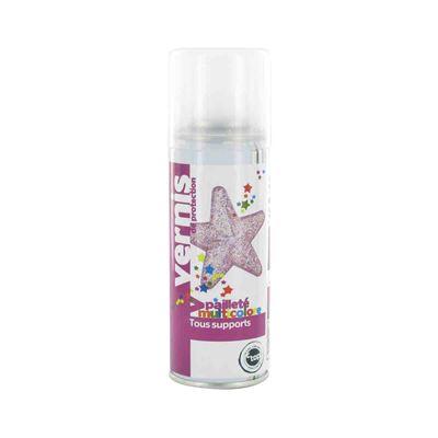 Vernis pailleté muticolore spray 125 ml - megacrea