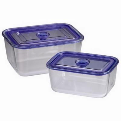 Xavax-lot de boîtes p. Congélateurs/fours en verre,2 p.,rectangul.,1500ml,3050ml