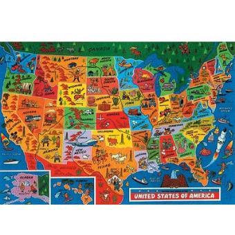 Carte Etats Unis Damerique.Puzzle 500 Pieces Carte Des Etats Unis D Amerique James Hamilton