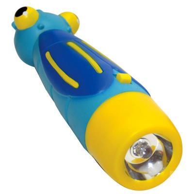 Lampe de poche enfant garçon Bleu Lampe torche 26cm LED Enfant 3 ans +