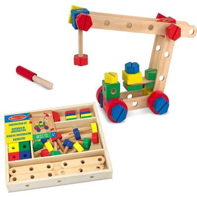 Set jeu de construction 48 pcs en bois tournevis boulons 4 modèles Enfants 4 ans