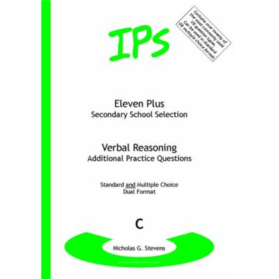 Eleven Plus / Secondary School Selection Verbal Reasoning - Additional Practice Questions: Bk. C (Paperback)