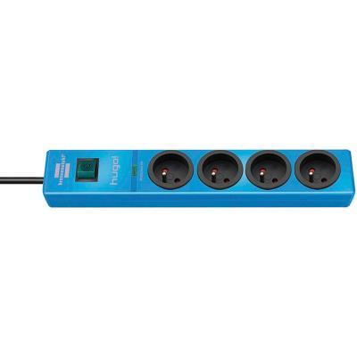 Brennenstuhl - brennenstuhl multiprise parafoudre hugo!, 4 prises, bleu 1150611384