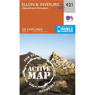 Os Explorer Map Active (421) Ellon And Inverurie (Os Explorer Active Map) (Map)