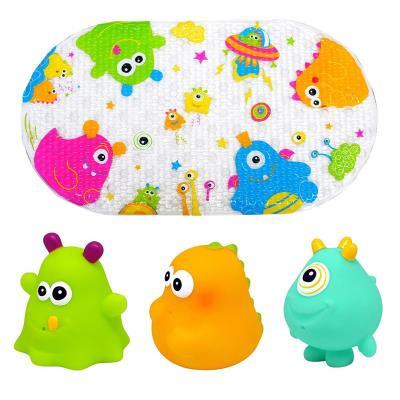 Knorrtoys 37025 Escabbo - Set de bain Happy Monster - Tapis et animaux arroseurs