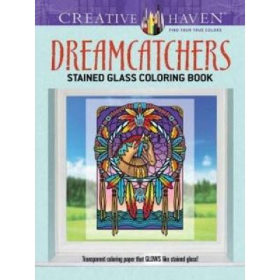 Creative Haven Dreamcatchers Stained Glass Coloring Book - [Version Originale]