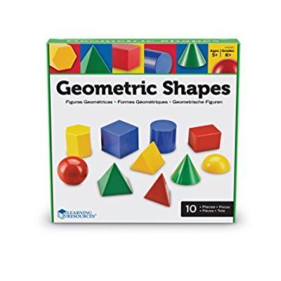 Lot de 10 formes géométriques qui correspondent à des formes qui nous entourent. Taille formes 7x8 de cm.aproximadamente. Il comprend tutoriel. A partir de 8 ans.