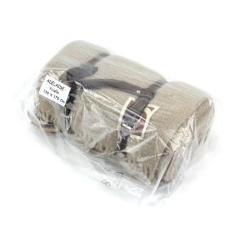 Plaid 130x170 cm laine Lambswool 280 g m² ADELAIDE Marron Ficelle - Achat    prix   fnac c8c7979457f