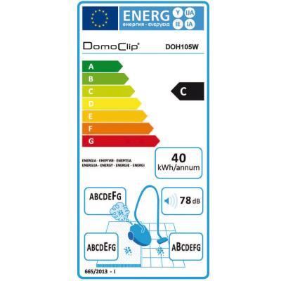 Domoclip DOH105W Aspirateur Multi cyclonique sans Sac