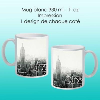 Mug blanc avec design New York city