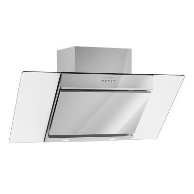Klarstein Zola - Hotte - hotte décorative - largeur : 90 cm - profondeur : 34 cm - extraction et recirculation (avec kit de recirculation supplémentaire) - inox et verre