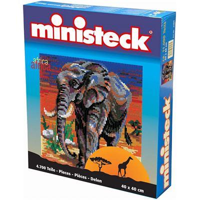 Ministeck - Jouet de plug Afrique Eléphant 4700 pcs