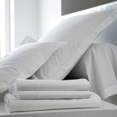 Taie d'oreiller Coton BLANC DES VOSGES 65 x 65 cm Blanc