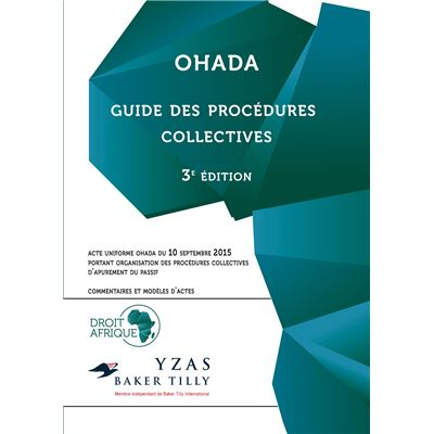 OHADA - Guide des procédures collectives