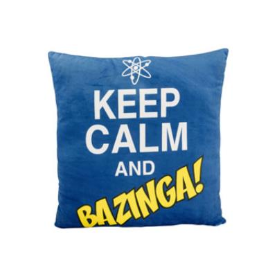 United Labels - The Big Bang Theory coussin peluche Keep Calm and Bazinga 40 x 40 cm