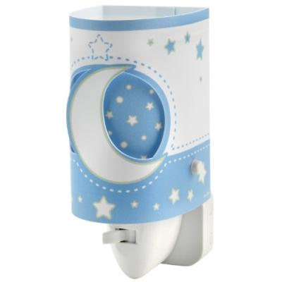 dalber - 63235lt - veilleuse led - modèle lune - bleu / blanc
