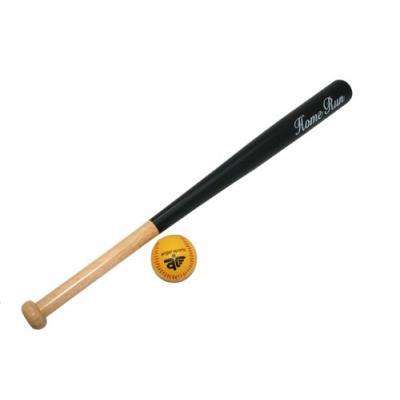 Batte de baseball 70 cm en bois avec balle 7 cm junior pour enfant 6 ans +.