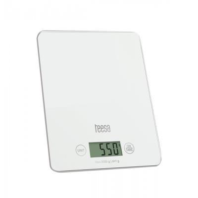 Teesa tsa0 804 w balance de cuisine numérique avec grand écran lcd, 4 g 5 kg, blanc tsa0804w