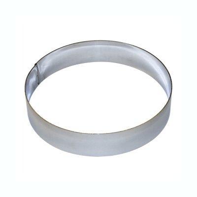 Cercle à Tarte rond inox diamètre 20 cm H: 4,5 cm*