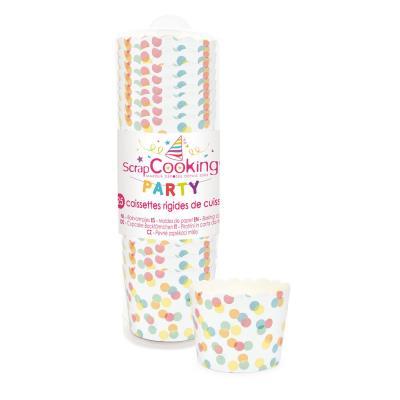 Caissettes de cuisson rigide - Confettis - 25 p. - Scrapcooking Party