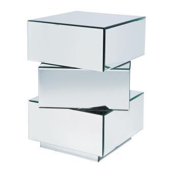 Table de chevet design miroir cube 3 tiroirs pm achat prix fnac - Tables de chevet design ...