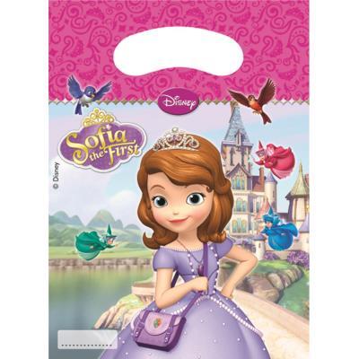 6 Sachets cadeaux Princesse Sofia? taille unique
