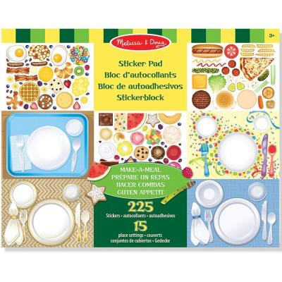 Autocollants 225 Stickers repositionnables La table chef cuisinier Enfants 3 ans