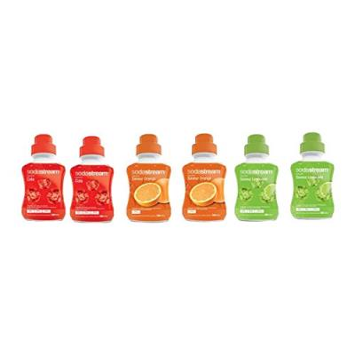 Sodastream 3009997 lot de 6 concentrés soda cola, limonade et orange