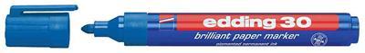 edding - 30 Marqueur papier brillant 30, pointe ogive, bleu