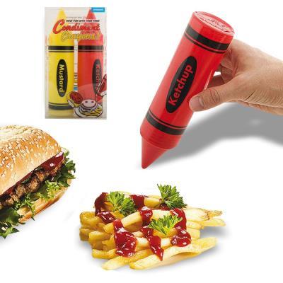 Duo de récipients distributeurs de sauce en forme de crayon