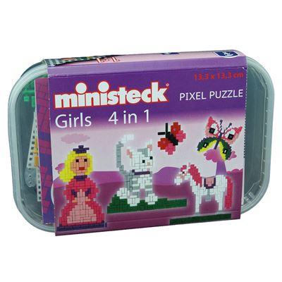 Ministeck 32578 Girls 4 en 1, 510 pièces de Jeu