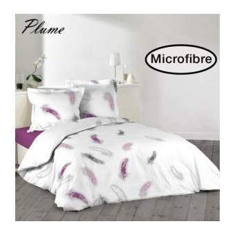 housse de couette 220x240 cm microfibre plume 2 to 100. Black Bedroom Furniture Sets. Home Design Ideas