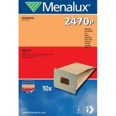 MENALUX 2470P 10 SACS ASPIRATEUR COMPATIBLE POUR PHILIPS