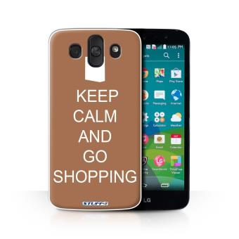 Coque De Stuff4 Etui Housse Pour LG AKA H788 Faire Du Shopping Brun Design Reste Calme Collection