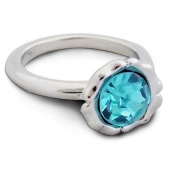 093f133faed Bague argentée rayonnante avec pierre turquoise bijou fantaisie pas cher  pendentif