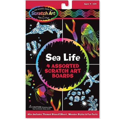 Révéler la couleur des dessins Animaux marins Holographique Enfants 4 ans +