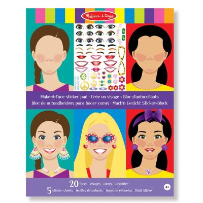 Autocollants 250 Stickers repositionnables theme Les Visages Enfants 3 ans
