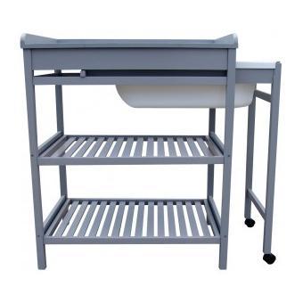 Quax Table A Langer Grey Baignoire Coulissante Quax Commodes Et Plans A Langer Achat Prix Fnac