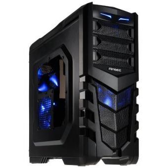 boitiers antec gx505 window blue bo tier midi tour noir bleu unit centrale boitier pc. Black Bedroom Furniture Sets. Home Design Ideas