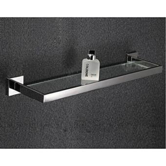 Etagère en verre et inox pour gadgets de salle de bain de style ...