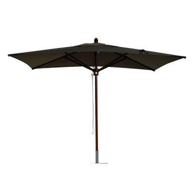 parasol rectangulaire centré coloris taupe - dim : h 280cm x d 400