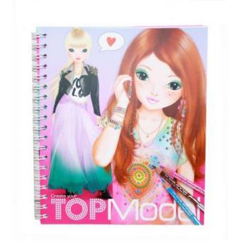 Coloriage album colorier top model coloriage top prix fnac - Coloriage top model visage ...
