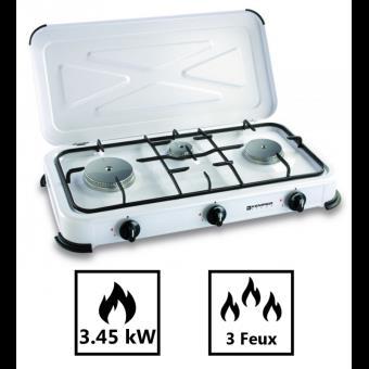 23 40 sur plaque de cuisson 3 feux 3450w gaz butane ou. Black Bedroom Furniture Sets. Home Design Ideas