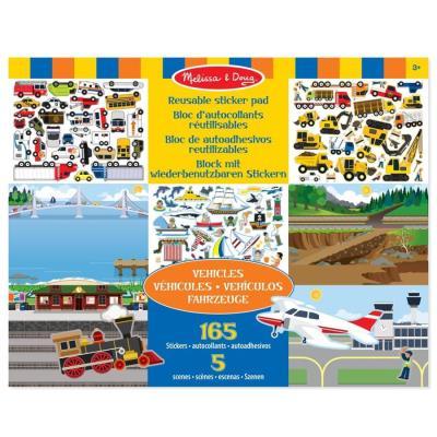Autocollants 150 Stickers repositionnables theme Les Véhicules Enfants 3 ans