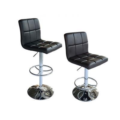 Paire de tabourets chaise de bar Simili Cuir Noir